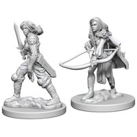 Pathfinder: Deep Cuts Miniatures - Human Female Fighter
