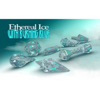 Set di Dadi Hero Wizard (Ethereal Ice, Burning Blue)