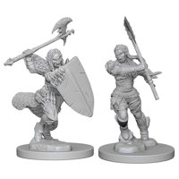 Pathfinder: Deep Cuts Miniatures - Half-Orc Female Barbarian