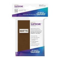 Bustine Standard Ultimate Guard Supreme UX Matte 50 (MARRONE)