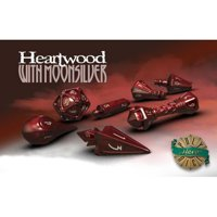 Set di Dadi Hero Wizard (Heartwood, Moonsilver)