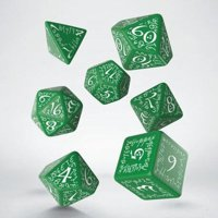 Set di Dadi Elvish (Verde, Bianco)