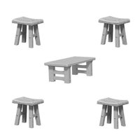 Pathfinder: Deep Cuts Miniatures - Wooden Table & Stools