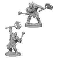 Pathfinder: Deep Cuts Miniatures - Half Orc Male Barbarian
