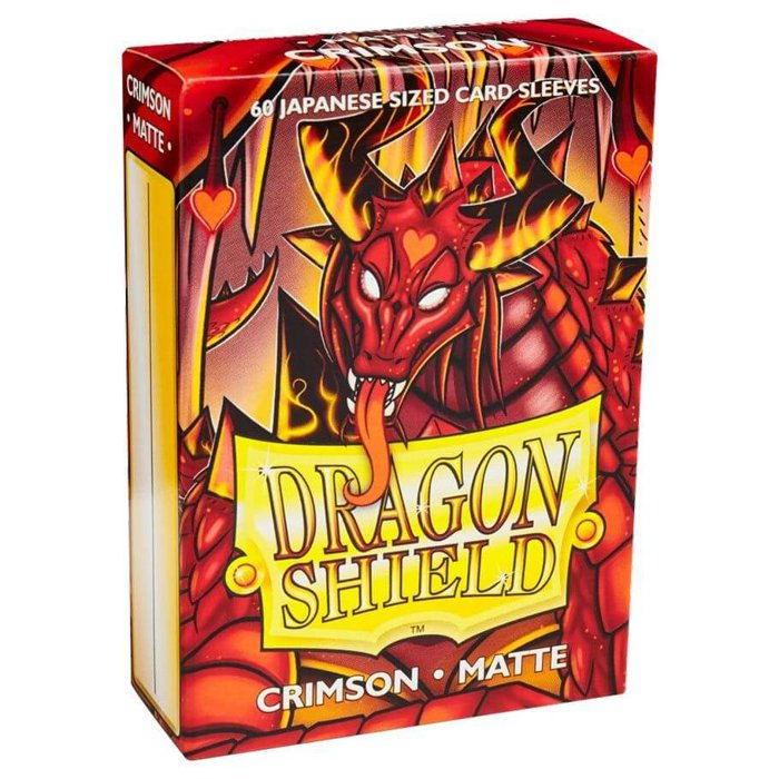 Copertina di Bustine Japanese Dragon Shield Matte 60 (CREMISI)