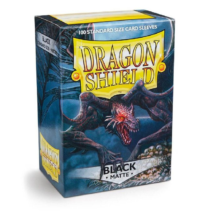 Copertina di Bustine Standard Dragon Shield Matte 100 (NERO)