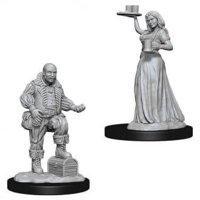 Pathfinder: Deep Cuts Miniatures - Merchants (serving girl, merchant)