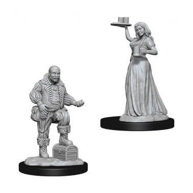 Copertina di Pathfinder: Deep Cuts Miniatures - Merchants (serving girl, merchant)