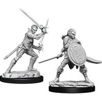 Pathfinder: Deep Cuts Miniatures - Elf Female Fighter