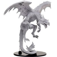 Pathfinder: Deep Cuts Miniatures - Gargantuan White Dragon