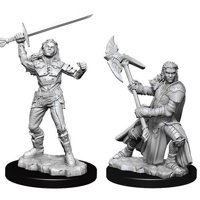 D&D: Nolzur's Marvelous Miniatures - Half-Orc Female Fighter