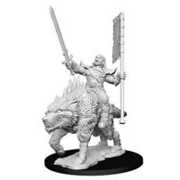 Pathfinder: Deep Cuts Miniatures - Orc on Dire Wolf