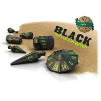 Set di Dadi Hero Warrior (Black, Goblin Green)