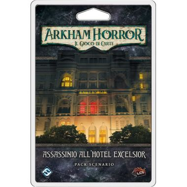 Copertina di Arkham Horror - LCG: Assassinio all'Hotel Excelsior