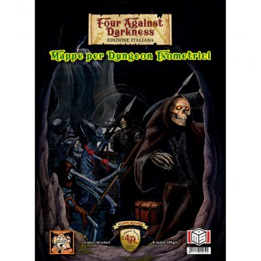 Copertina di Four Against Darkness: Mappe per Dungeon Isometrici
