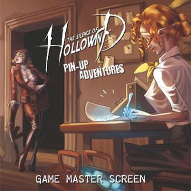 Copertina di The Silence of Hollowind - Pin-Up Adventures: Game Master Screen