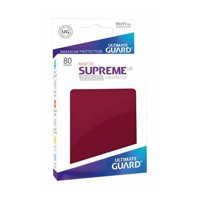 Bustine Standard Ultimate Guard Supreme UX 80 (ROSSO)
