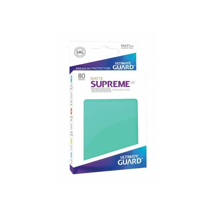 Copertina di Bustine Standard Ultimate Guard Supreme UX Matte 80 (TURCHESE)