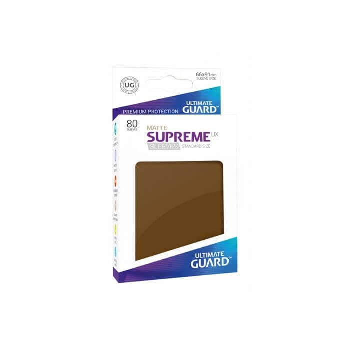 Copertina di Bustine Standard Ultimate Guard Supreme UX Matte 80 (MARRONE)